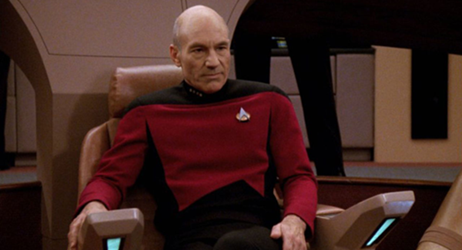 Jean-Luc Picard in Star Trek: TNG.
